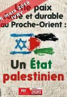 6 mars 2018, Solidarité avec La Palestine