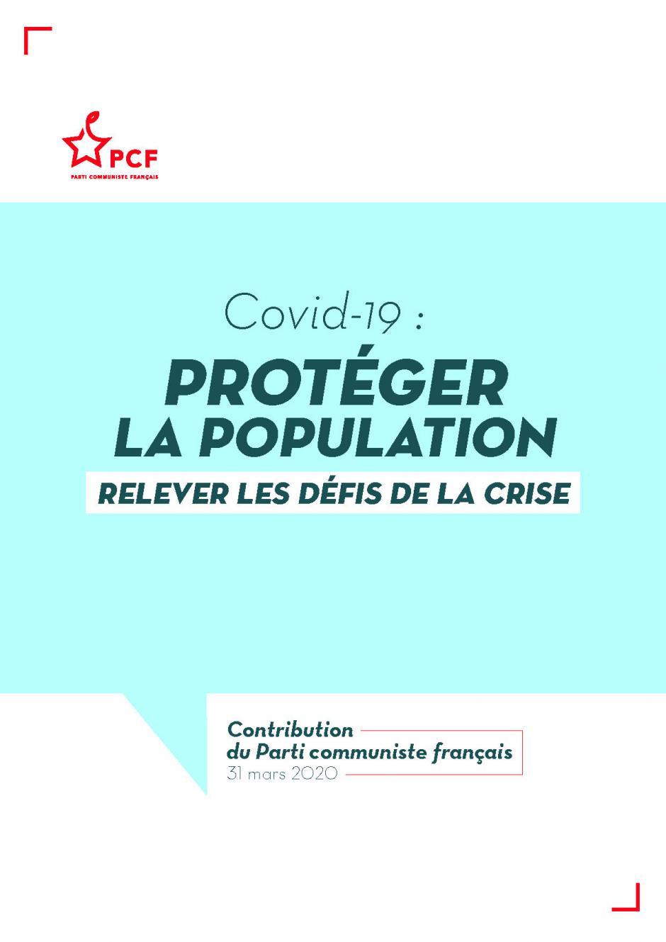 COVID-19 : Protéger la population et relever les défis de la crise.