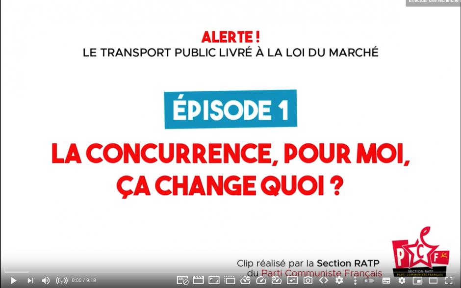 L'ouverture à la concurrence de la RATP, 3 vidéos pour comprendre les dangers et les combattre.